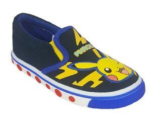 Boys Pokemon Canvas Trainers Pikachu