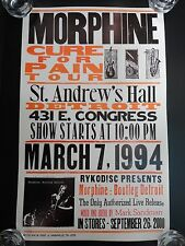 Morphine Cure For Pain Tour Bootleg Detroit Promo Poster Hatch Show Print RARE