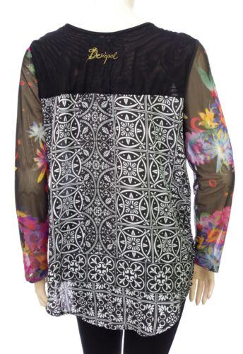 2000 Desigual Color Negro Blus Negro de Ainara 72b2eq2 Ts vela rUSqrw0I
