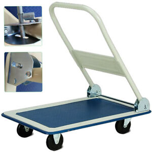 0581b7e08fe7 Details about 150Kg Heavy Duty Folding Trolley Cart Platform Flat Barrow  Sack comfortable S247