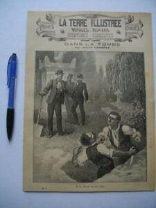 RARE-034-La-Terre-Illustree-034-no-07-1890-mag-voyages-LOUPS-SEVILLE-COURBET