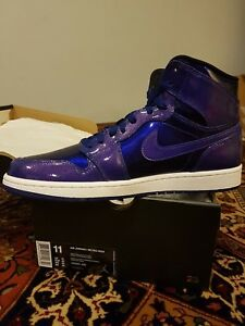 59a89672f53d45 NIKE AIR JORDAN 1 RETRO HIGH DEEP ROYAL BLUE SPACE JAM 705300 420 SZ ...