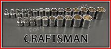 CRAFTSMAN HAND TOOLS 25pc 3/8 12 pt SAE & METRIC MM ratchet wrench socket set