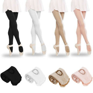 Girls-Kids-Ballet-Dance-Foot-Tights-Convertible-Transition-Dancewear-Tights-Sock