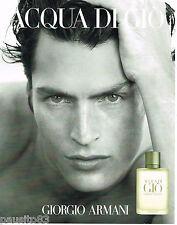 PUBLICITE ADVERTISING 065  2001  GIORGIO ARMANI   pour homme AQUA DI GIO