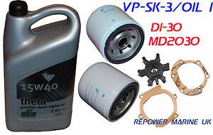 Service Kit & Oil for Volvo Penta D1-30, MD2030, reps ...