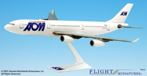 Flight Miniatures AOM Airlines Airbus A340-200 Desk Display 1//200 Model Airplane