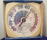 12 Taylor Wall Thermometer W Wind Chill Indoor Or Outdoor Model 5334