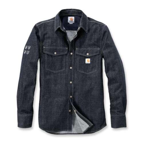 Carhartt Herren Jeans Hemd Schutzfunktion PROTECTIVE DENIM SHIRT Gr L Regular