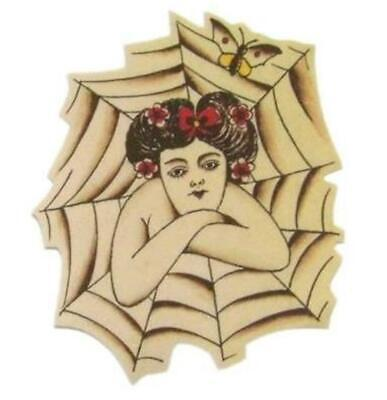 Fortune Circus Lady Craft Iron on Patch Flash Tattoo Applique Star Sailor Jerry