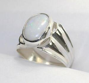 925-Sterling-Silver-Natural-Certified-9-25-Carat-opal-Gemstone-Ring