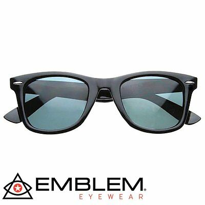 Classic Retro Black Polarized Lens Horn Rimmed Sunglasses