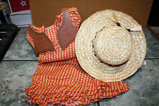AMERICAN GIRL JOSEFINA/'S SUMMER OUTFIT~DRESS~HAT~VEST~NO BOOTS~NEW