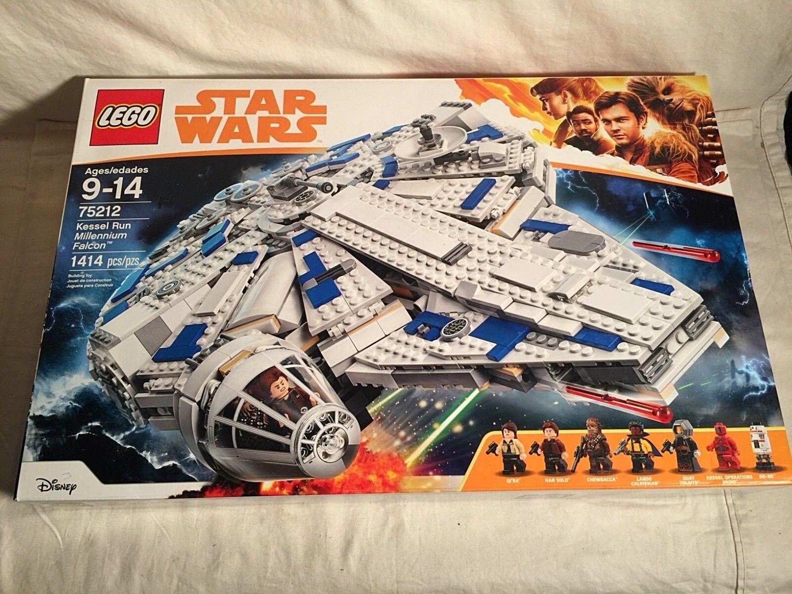 Estrella guerras Lego 75212 KESSEL correre MILLENNIUM  FALCON 1414pc nuovo SEALED 7 Mini Figs  qualità di prima classe