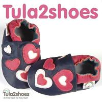 BEAUTIFUL SOFT LEATHER BABY GIRLS SHOES /SLIPPERS 0-6-12-18-24 M CUTE HEARTS