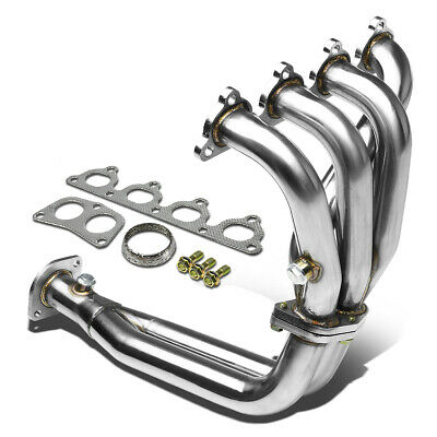 FOR 88-00 CIVIC//CRX//DEL SOL D15//D16 VTEC STAINLESS EXHAUST HEADER+GASKET+BOLTS