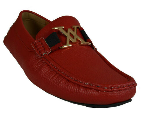 Men/'s Giovanni Dress Shoes Loafer Casual Italian Slip-On Solid Moccasin M9751