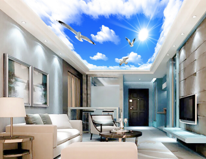 3D Clouds Bird Sky 71 Wallpaper Mural Wall Print Wall Wallpaper Murals US Summer