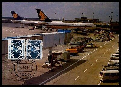 Architektur Brd Mk 1991 Frankfurt Airport Flughafen Maximumkarte Maxi Card Mc Cm M917 Grade Produkte Nach QualitäT