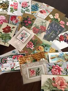 Lot-of-30-Vintage-Early-1900-s-Postcards-Antique-In-Sleeves-Free-Shipping