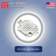 1Pcs 10W Watt High Power Bright Red 620-630nm SMD LED Chip Blub Beads Lamp
