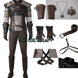 New-Original-The-Wild-Hunt-Geralt-of-Rivia-Cosplay-Costume-Full-Suit-clothing