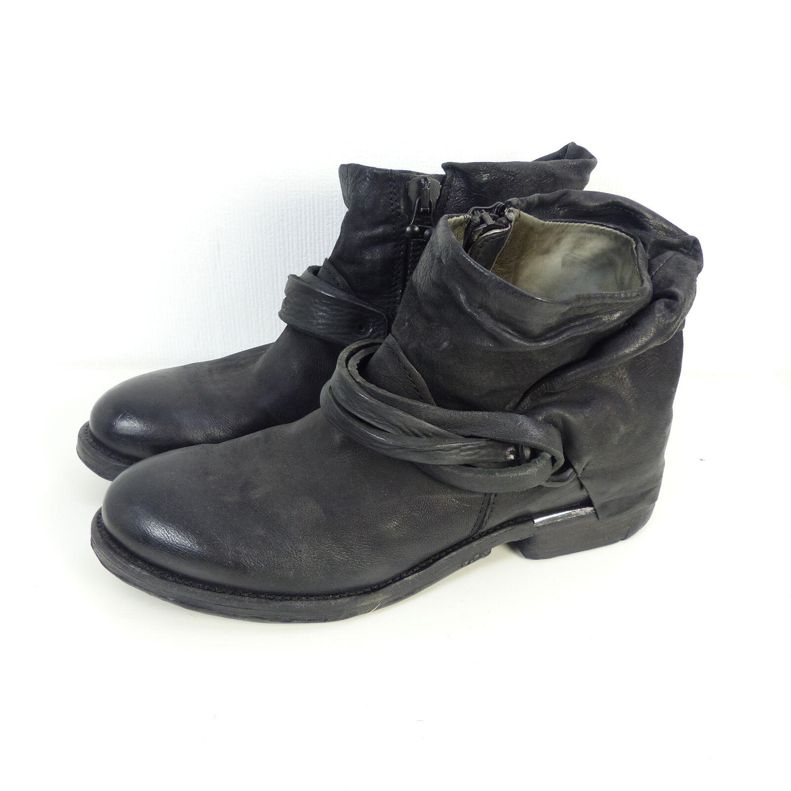 Grandes zapatos con descuento AS98 Airstep Stiefelette Boots Stiefel Leder Schwarz Gr. EUR 40 (H27)