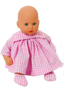 Pink Gingham Dress Set For My First Baby Annabell 12 14