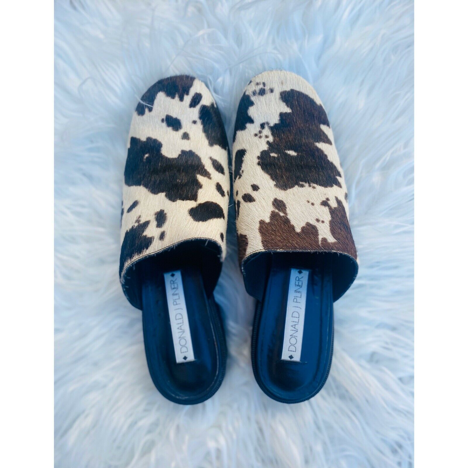 Donald Pliner 90s inspired cow hair mules - image 2