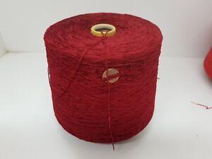 cf84 Wolle Garn Stricken/& HandstrickenChenille Kone PES rot 1,3 kg Nm 6