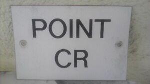 """Ancien panneau sncf """"Point C R """"voie désaffectée déco loft Z48ifntb-09110811-819255876"""