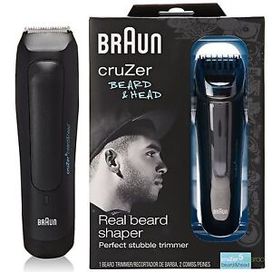 new mens braun cruzer 5 adjustable beard and head rechargeable trimmer shaver ebay. Black Bedroom Furniture Sets. Home Design Ideas