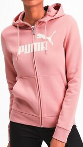 Puma-Essentials-Logo-Womens-Fleece-Hoody-Pink