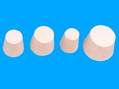 10 X solid white rubber stoppers - aussie seller fast shipping No 3