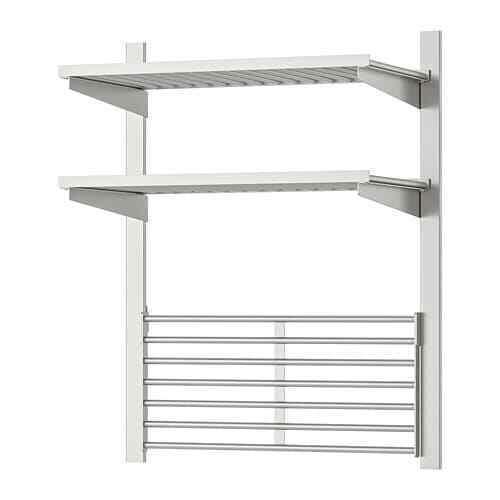 Nouveau  Suspension Rail avec étagère BLR Grille kungsfors Acier Inoxydable  marque IKEA