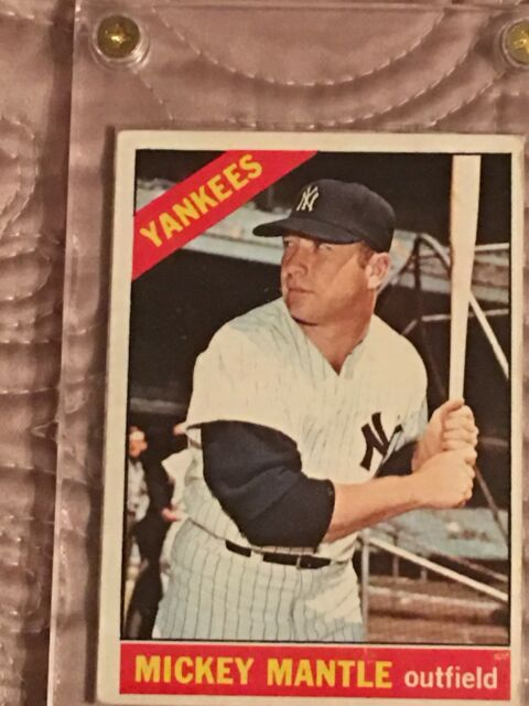 1966 Topps Mickey Mantle 50 Baseball Card