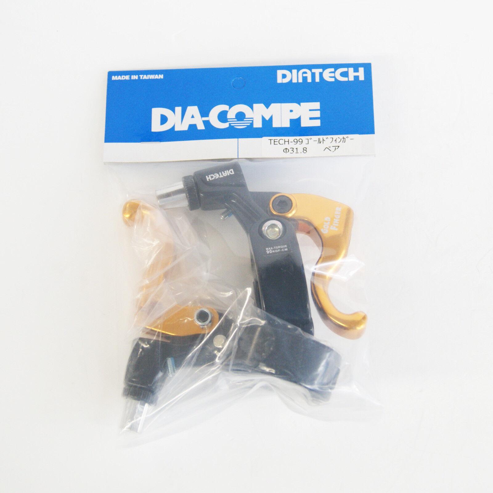 Dia-Compe TECH99 oro Dito 318 Leva Freno Sinistra Sinistra Sinistra e Destra (Paio) negro x oro 44e684