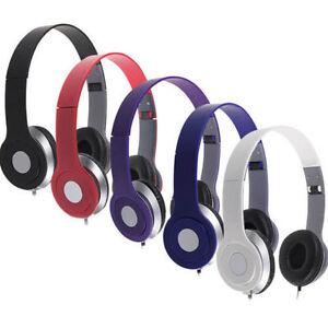 Cuffie-Stereo-DJ-Stile-Pieghevole-Auricolare-Auricolare-in-Ear-mp3-4-3-5mm-UK