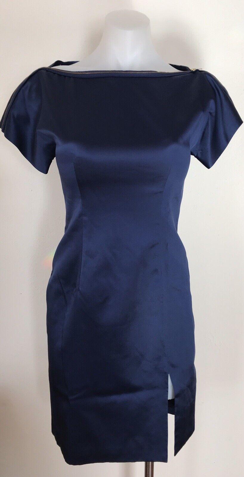 NWT Womens Vivienne Tam Silk Dress Gorgeous Glam Elegant Runway Size 0
