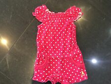 Juicy Couture New Genuine Baby Girls Pink Cotton Playsuit 6/12 MTHS With Logo