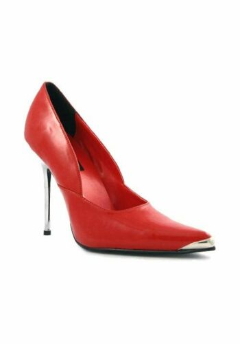 Pleaser HEAT-01 4-1//2 Inch Spikes Chrome Metal Heel Shoes