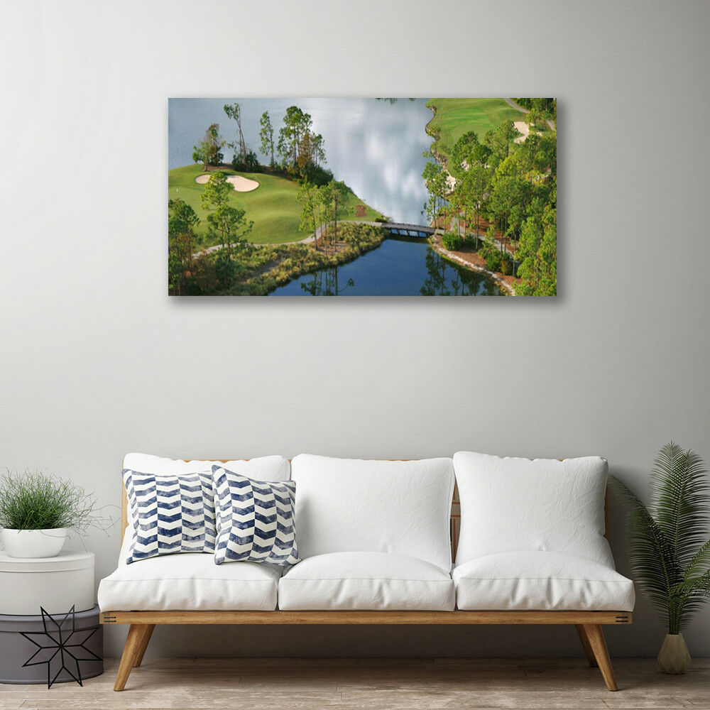 Canvas print Wall art on 100x50 Image Picture Picture Picture Lake Nature b61e4e