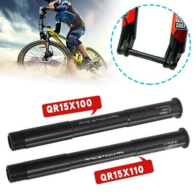 15x100mm MTB Bike Bicycle Front Fork Thru Axle Aluminum Alloy For ROCK SHOX