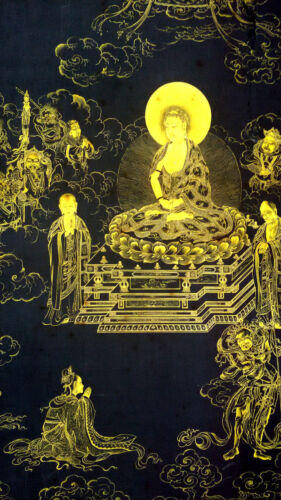 Antique-Chinese-Tibetan-Bhuddist-Thangka-Painting-By-Ding-Guanpeng #r2027