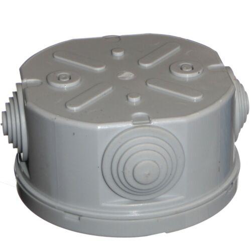 Rond boîte de jonction 80 mm x 40 mm IP44 Extérieur Use For CCTV et éclairage cables