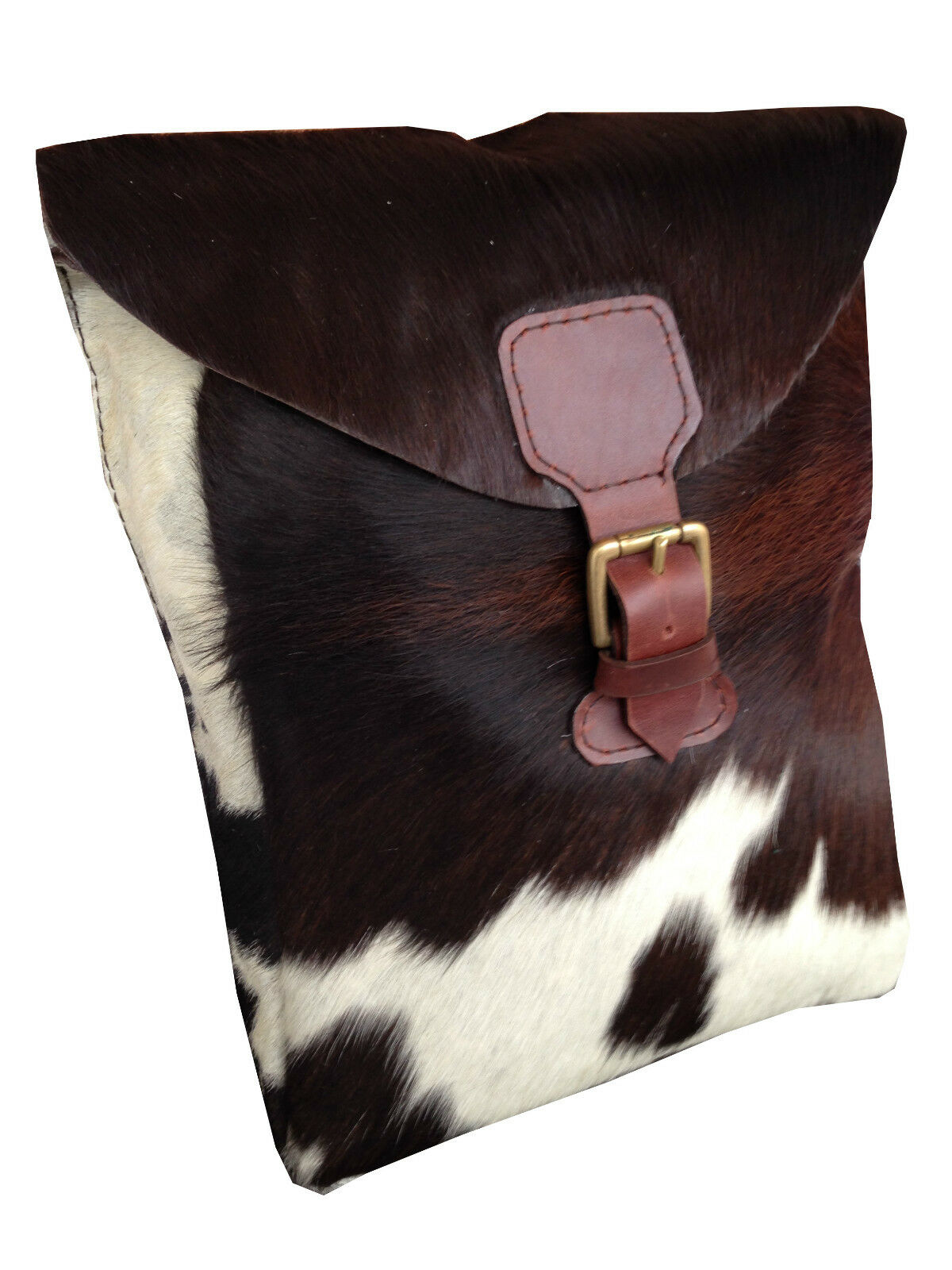 Stunning Cow Fur Bohemian Hippie Leather Field Hunting Pouch Bag (London Design)