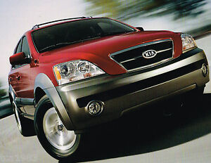 2003 kia sorento catalog / brochure with color chart: lx