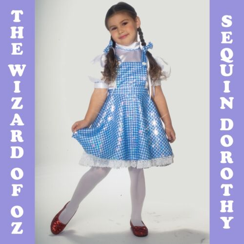 Sequin Dorothy Fancy Dress Costume Wizard Of Oz 1-10YRS