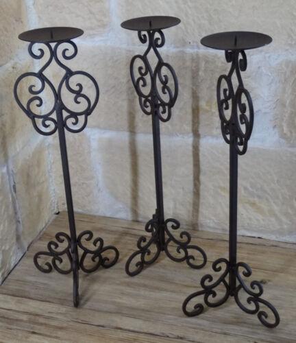 3er Kerzenständer Kerzenhalter Leuchter braun Eisen Kerzenleuchter Metall 50 648