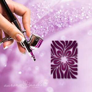 Airbrush-Adhesive-Stencils-mu046-Nail-Art-smudge-Drop-Stain-FULLCOVER-20stk